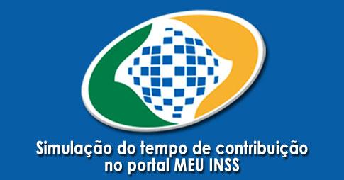 Simulação do tempo de contribuição no portal MEU INSS